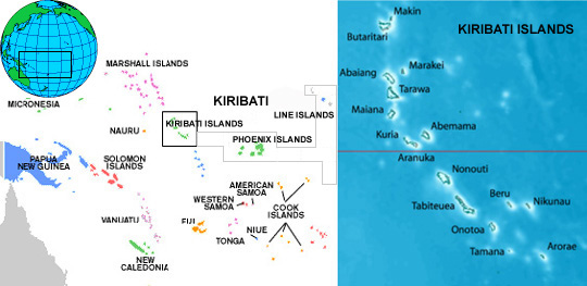 Highlight Photo Effect Of Alternative Incomes On Fishing And - Kiribati map